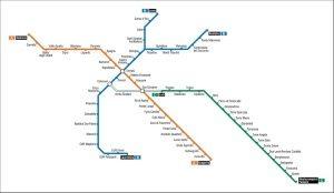 lignes métro rome