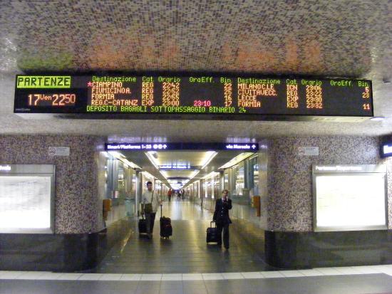 rome stazione termini arrivée