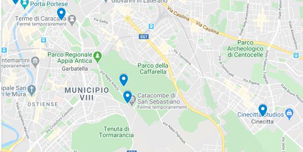 carte rome sud